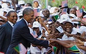 President Barack Obama and Tanzanian President Jakaya Kikwete