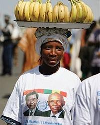 A Senegalese banana vendor.