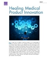 Cover: Healing Medical Product Innovation