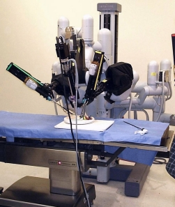 Robotic assistance with laproscopic surgery