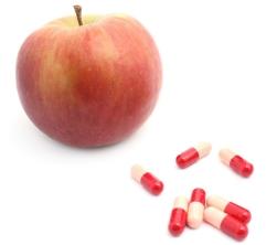 Apple and pills
