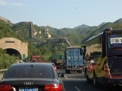 Traffic at Great Wall of China