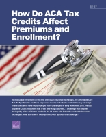Cover: How Do ACA Tax Subsidies Affect Premiums and Enrollment?