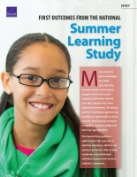 Cover: First Outcomes from the National Summer Learning Study