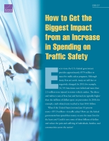 Cover: How to Get the Biggest Impact from an Increase in Spending on Traffic Safety