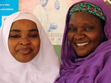 Two smiling Nigerian women
