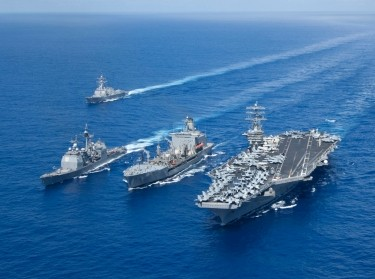 The Nimitz Carrier Strike Group, en route to the Western Pacific Ocean