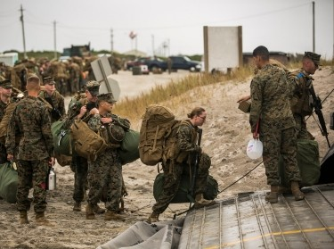 U.S. Marines and Sailors with the 26th Marine Expeditionary Unit