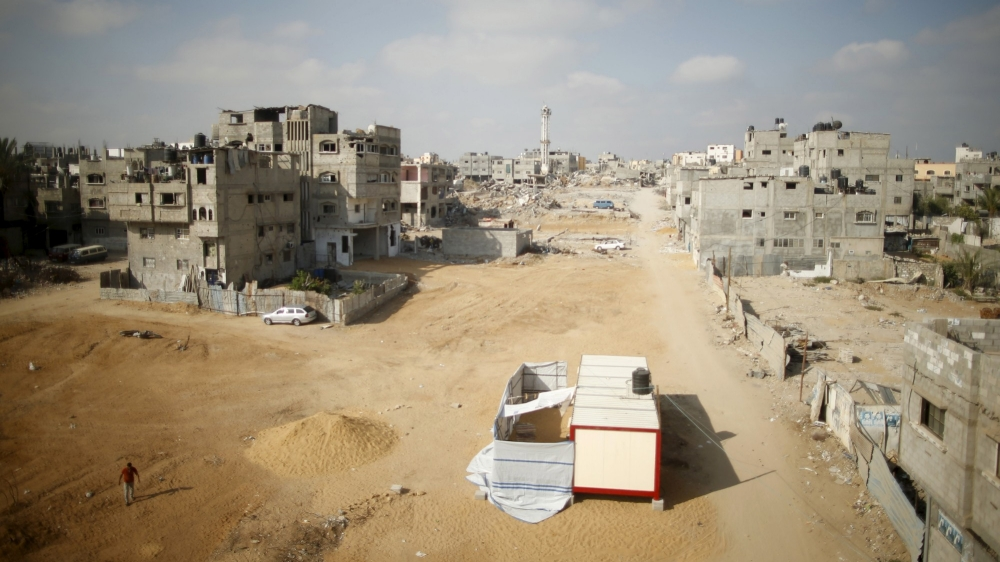 The Shejaia neighborhood in Gaza after an Israeli shelling in 2014
