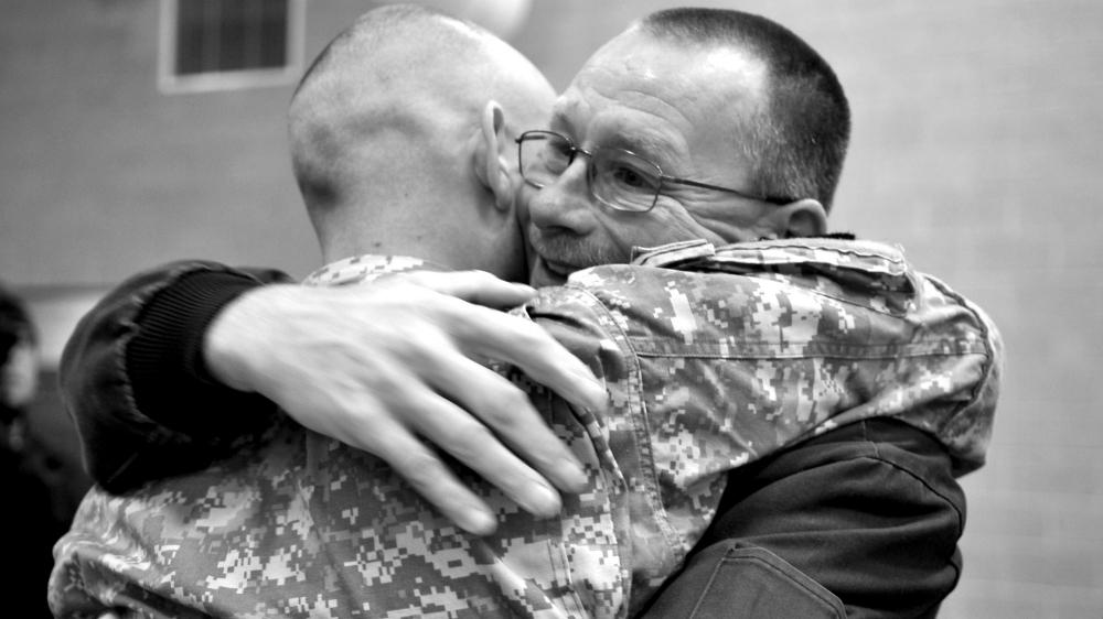 A veteran comes home