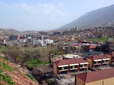 Shaqlawa, Kurdistan, Iraq: view of the valley between Safeen Mountain and Sork Mountain