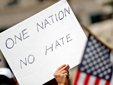 Protesters gather during the Indiana Stop Asian Hate Rally on Monument Circle in Indianapolis, Indiana, March 27, 2021, photo by USA Today Network via Reuters