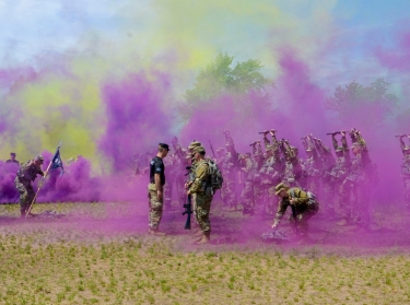 Soldiers participate in training at Camp Ripley, Minnesota, June 5, 2021, photo by Sgt. Mahsima Alkamooneh/U.S. Army
