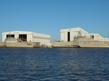 Littoral Combat Ships under construction in Mobile, Alabama