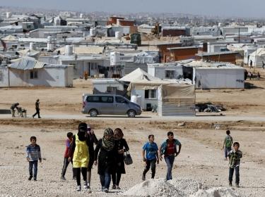 Syrian refugees at Al Zaatari refugee camp in Mafraq, Jordan, November 1, 2015