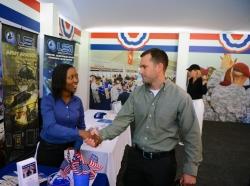 A military job fair in Ponte Vedra Beach, Florida