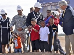The groundbreaking ceremony at the Van Horne housing community