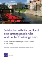 Cover: Satisfaction with life and local area among people who work in the Cambridge area