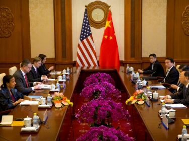 U.S. National Security Adviser Susan Rice listens as Chinese State Councilor Yang Jiechi speaks during a meeting in Beijing, China, July 25, 2016