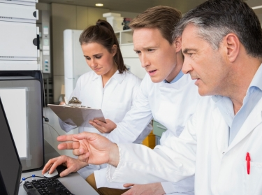 Team of researchers working together