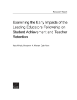 Cover: Examining the Early Impacts of the Leading Educators Fellowship on Student Achievement and Teacher Retention