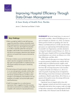 Cover: Improving Hospital Efficiency Through Data-Driven Management