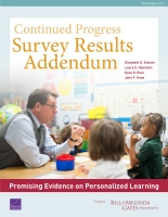 Cover: Continued Progress: Promising Evidence on Personalized Learning