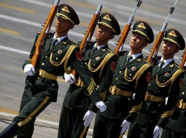 Soldiers of China's People's Liberation Army march in a parade marking the 70th anniversary of the end of World War Two, in Beijing, September 3, 2015