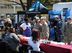 The Presidio of Monterey community celebrated Earth Day with an informational fair and a tree-planting ceremony involving service members and the National Arbor Society