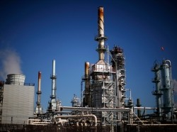 An oil refinery is seen in Carson, California, March 4, 2015