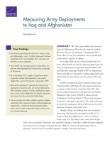 Cover: Measuring Army Deployments to Iraq and Afghanistan