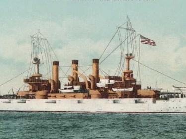 Postcard of USS Connecticut (BB-18) 1906