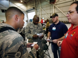 Reserve component members talking to civilian employers