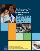تطویر مجموعة أدوات مؤسسة RAND لتقييم البرامج واختبارھا تجریبیًاً من أجل مواجهة التطرف العنيف
