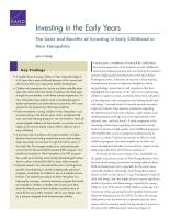 الاستثمار في السنوات المبكرة: تكاليف ومنافع الاستثمار في الطفولة المبكرة في نيوهامبشاير