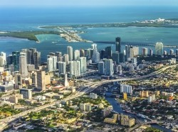 Aerial view of Miami, Florida