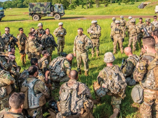 U.S. Army Forces Command's Command Sgt. Maj. speaks to soldiers at Ft. Campbell, May 22, 2018