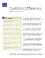 Cover: Voting Patterns in Post-Mubarak Egypt