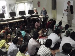 a college lecture in India