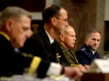 Air Force Chief of Staff Gen. Dave Goldfein testifies before the Senate Armed Services Committee during a hearing about Defense Department readiness September 15, 2016, in Washington, D.C., photo by Scott M. Ash/U.S. Air Force