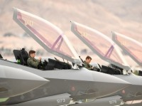 Pilots from the 388th Fighter Wing's 4th Fighter Squadron participating in Red Flag 19-1 at Nellis AFB, Nevada, January 31, 2019