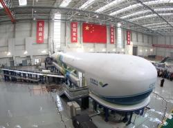 The testing platform for China's C919 jumbo jet, photo by Shanghai Daily - Imaginechina/AP