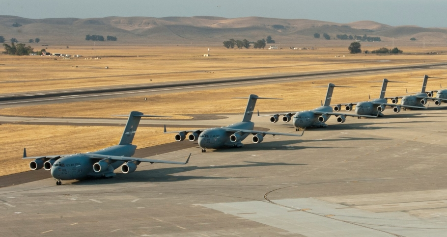 A 22-aircraft freedom launch took place at Travis AFB, Calif., Sept. 11, 2013