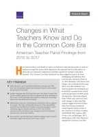 Changes In What Teachers Know And Do In The Common Core Era