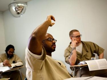 prisoners attending a class