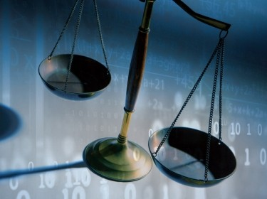 Equations and formulas behind scales of justice, images by monsitj and DNY59/Getty Images