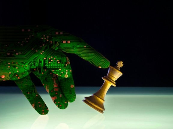 Concept of artificial intelligence winning at chess, photo by JohnDWilliams/Getty Images