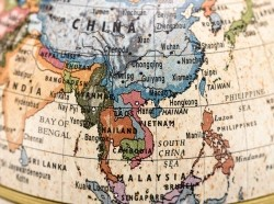 East and Southeast Asia on a globe, photo by fpdress/Getty Images