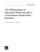 Cover: The Effectiveness of Remotely Piloted Aircraft in a Permissive Hunter-Killer Scenario