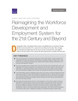 Reimagining the Workforce Development and Employment System for the 21st Century and Beyond